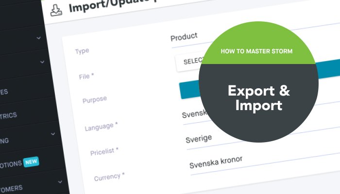 How to master Storm Export & Import